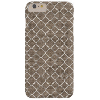 Rustic Burlap Texture Barely There iPhone 6 Plus Case