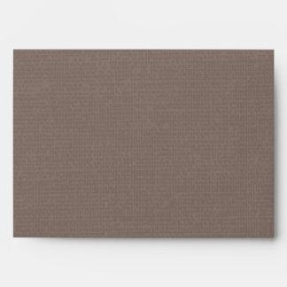 Rustic Burlap Texture Envelope
