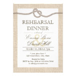 Rustic Burlap Tying the Knot Rehearsal Dinner Invitations