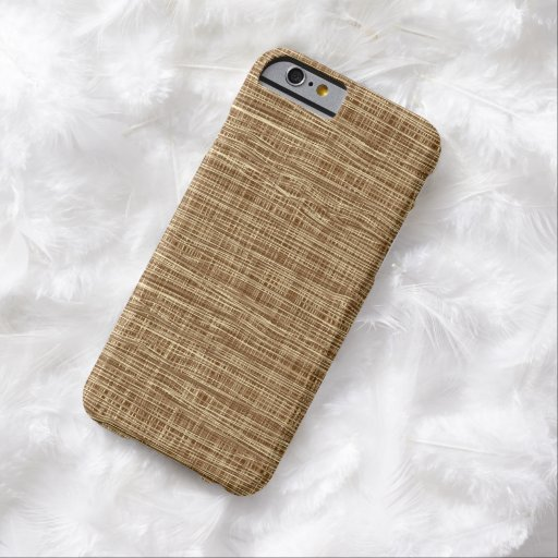 Rustic Burlap Weaving Pattern Barely There iPhone 6 Case