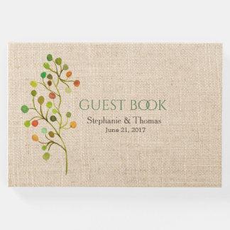 Rustic Burlap Wedding Guest Book