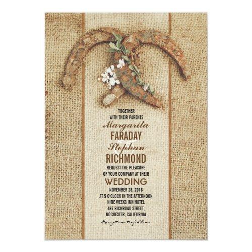Best 50 Rustic Horseshoe Wedding Invitations - Stunning Collection ...