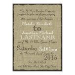 Rustic Burlap Wedding Invites