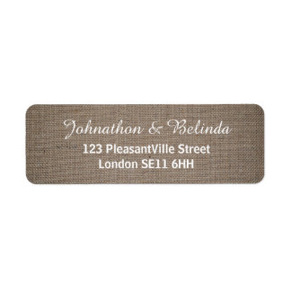 Rustic Burlap Wedding Label