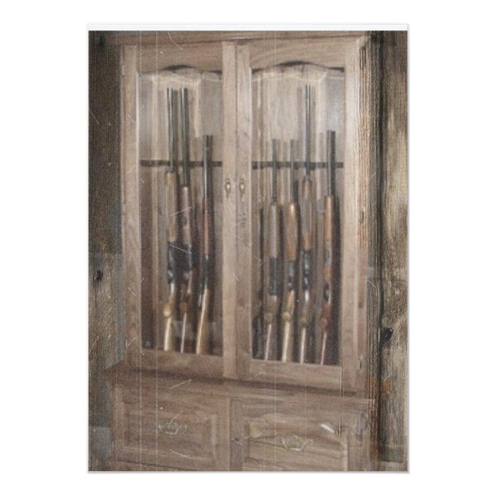 Rustic Cabin Gun Case Card