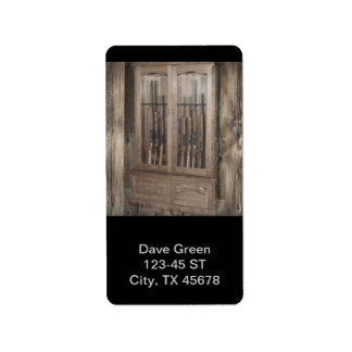 Rustic Cabin Gun Case Personalized Address Labels