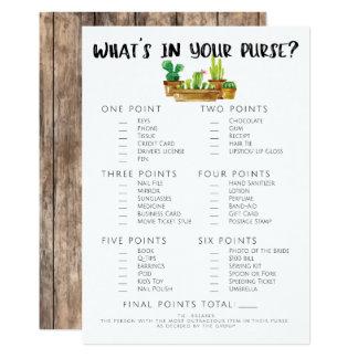 Rustic Cactus Bridal Shower Game-Purse Card