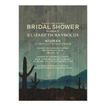 Rustic Cactus Bridal Shower Invitations