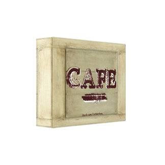 Rustic Cafe Kitchen Canvas Print - Aged Paint 2.0