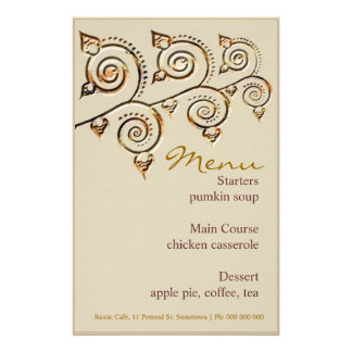 Rustic Cafe Menu Stationery