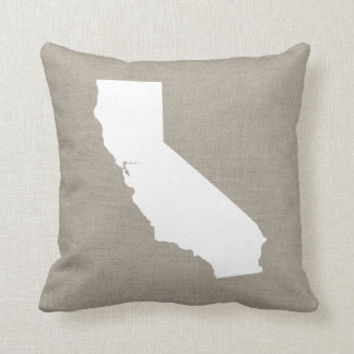 Rustic California State Throw Pillow