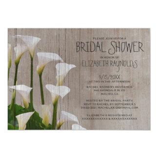Rustic Calla Lillies Bridal Shower Invitations Invitations