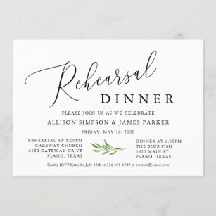 Before we say I do Simple and Minimal Formal Rehearsal Invite Classic Rehearsal Dinner Invite Hailey Collection Clean Calligraphy