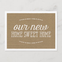 Rustic Calligraphy | New Home Announcement Postcard
