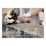 Rustic Calligraphy   Photo Thank You Stationery Note Card