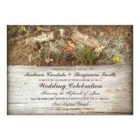 Rustic Camo and Wood Country Wedding Invitations (<em>$2.06</em>)