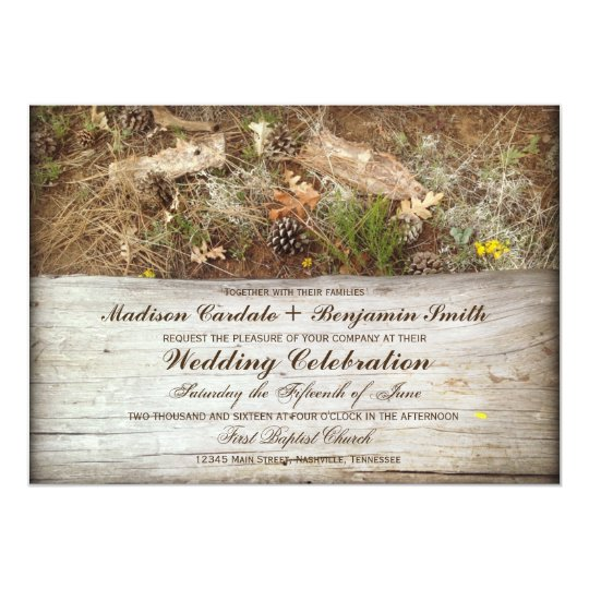 Camouflage Wedding Invitations: Rustic Camo And Wood Country Wedding Invitations
