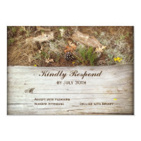 Rustic Camo and Wood Country Wedding RSVP Cards (<em>$1.96</em>)