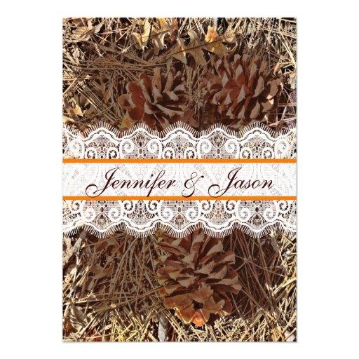 Camo camouflage lace wedding invitations 4 5 quot x 6 25 quot invitation