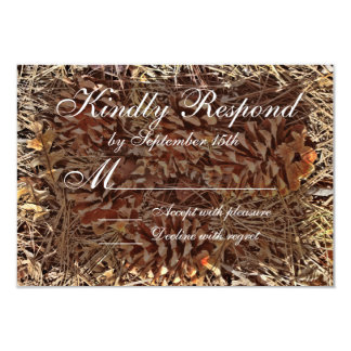 Rustic Camo Camouflage Wedding RSVP Cards Personalized Invite