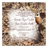 Rustic Camo Hunting Deer Antlers Wedding Invites (<em>$2.35</em>)