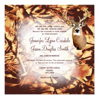Hunting Theme Wedding Invitations Rustic Camo