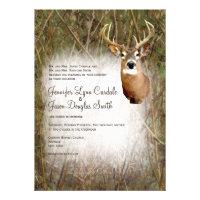Rustic Camo Hunting Deer Antlers Wedding Invites (<em>$2.15</em>)