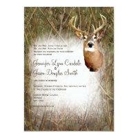 Rustic Camo Hunting Deer Antlers Wedding Invites (<em>$2.27</em>)