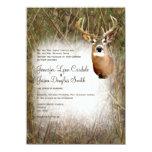 "Rustic Camo Hunting Deer Antlers Wedding Invites 4.5"" X 6.25"" Invitation Card"