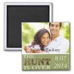 Rustic Camo Save The Date Wedding Magnet