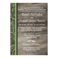 Rustic Camo Wedding Invitations
