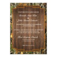 Rustic Camo Wood Wedding Invitation (<em>$2.01</em>)