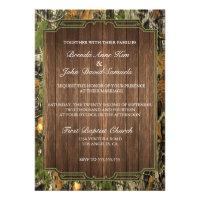 Rustic Camo Wood Wedding Invitation (<em>$1.90</em>)