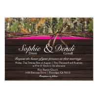 Rustic Camo Wood Wedding Invitation 5&quot; X 7&quot; Invitation Card (<em>$2.01</em>)