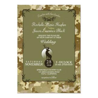 Rustic Camouflage Woodland Deer Invitation