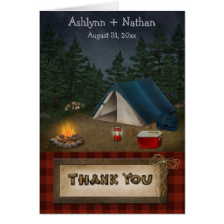 Rustic Camping Glamping Nature Thank You Card Card