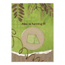 Kids party Invites Camping Party Invitations MGdezigns