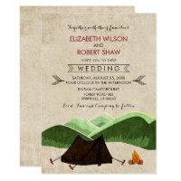 Rustic Camping Wedding Invitations