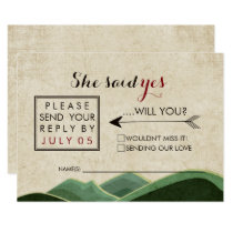 Rustic Camping Wedding rsvp Card