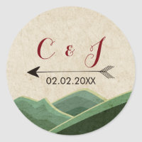 Rustic Camping Wedding stickers