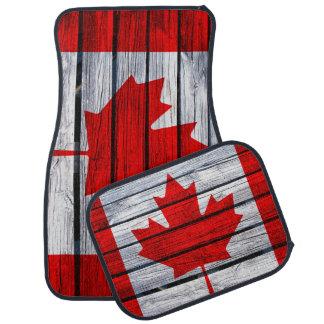 Rustic Canadian Flag Car Floor Mat