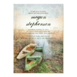Rustic Canoe Waterfront Bridal Shower Card