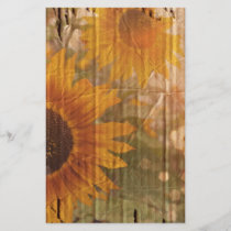 rustic cardboard country sunflower wedding
