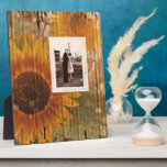 "rustic cardboard country sunflower wedding plaque<br><div class=""desc"">rustic cardboard country sunflower wedding invitations,  corrugated cardboard wedding invitations ,  western country wedding save the date and vintage sunflower wedding favors.</div>"