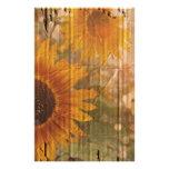rustic cardboard country sunflower wedding stationery