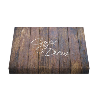 Rustic Carpe Diem Canvas Print