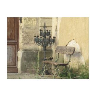Rustic Chair in Paris Canvas Print