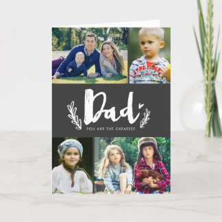Rustic Chalk Father's Day Card