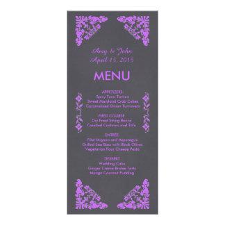 Rustic chalkboard art deco wedding menu deco1