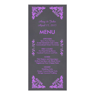 Rustic chalkboard art deco wedding menu deco1 rack card